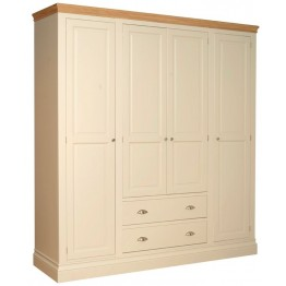 Lundy Quad Wardrobe With 2 Drawers