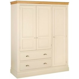 Lundy Ladies Triple Wardrobe With 2 Drawers