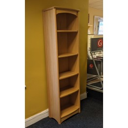 Nathan Oak 8992 Tall Single Bookcase NEB-8992-OK - ONLY ONE LEFT
