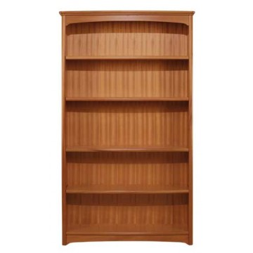 6991 Nathan Tall Double Bookcase - Teak Finish NEB-6991-TK