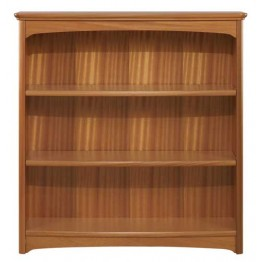 6993 Nathan Mid Double Bookcase - Teak finish NEB-6993-TK