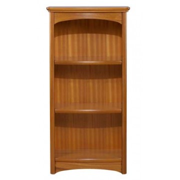 6994 Nathan Mid Single Bookcase - Teak finish NEB-6994-TK