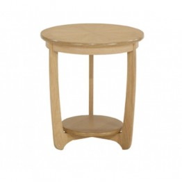 Nathan Oak Bedroom 5825 Small Round Bedside Table