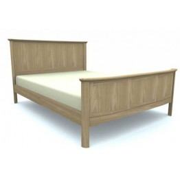 Nathan Oak Bedroom 7175 King Size Wooden Bed - 5ft / 150cm