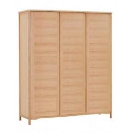 Nathan Oak Bedroom 7235 3 Door all hanging wardrobe