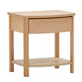 Nathan Oak Bedroom 7405 Bedside Table with Drawer