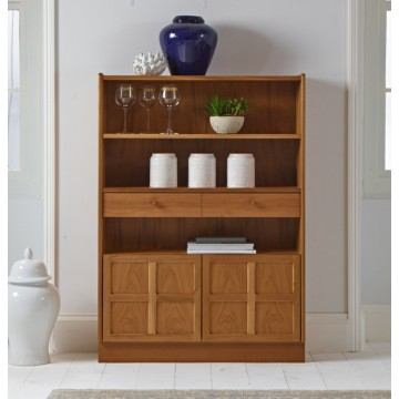 6424 Nathan Classic Medium Bookcase With Doors NCL-6424-TK