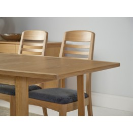 Nathan Oak 2155 Shades Small Boat Shaped Dining Table on Legs NSD-2155-OK