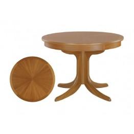2164 Nathan Shades Circular Pedestal Dining Table with Sunburst Top - NSD-2164-TK