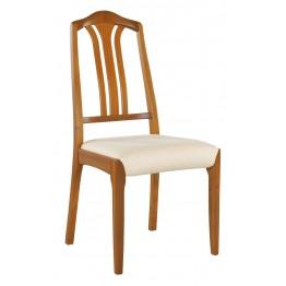 3114 Nathan Slat Back Dining Chair in Teak NCD-3114-TK