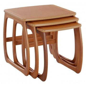 5634 Nathan Classic Burlington Nest of Three Tables in Teak NCL-5634-TK