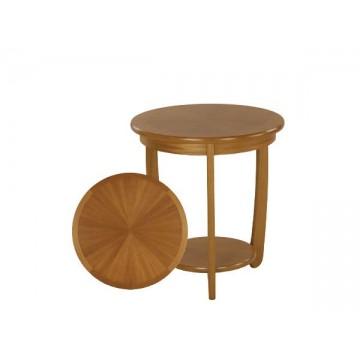 5824 Nathan Shades Sunburst Top Round Lamp Table NSH-5824-TK
