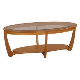 5834 Nathan Shades Glass Top Oval Coffee Table NSH-5834-TK