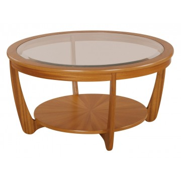 5914 Nathan Shades Glass Top Round Coffee Table NSH-5914-TK