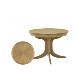 Nathan Oak 2165 Circular Pedestal Dining Table with Sunburst Top NSD-2165-OK