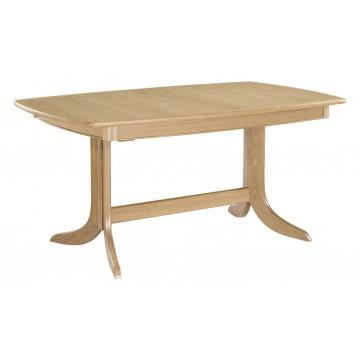Nathan Oak 2175 Extending Boat Shaped Pedestal Dining Table NSD-2175-OK