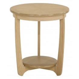 Nathan Oak 5825 Sunburst Top Round Lamp Table NSH-5825-OK - ONLY ONE LEFT