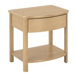 Nathan Oak 5905 Shaped Lamp Table NSH-5905-OK
