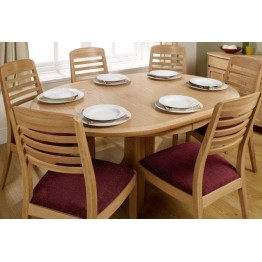 Nathan Oak 2125 Circular Pedestal Dining Table