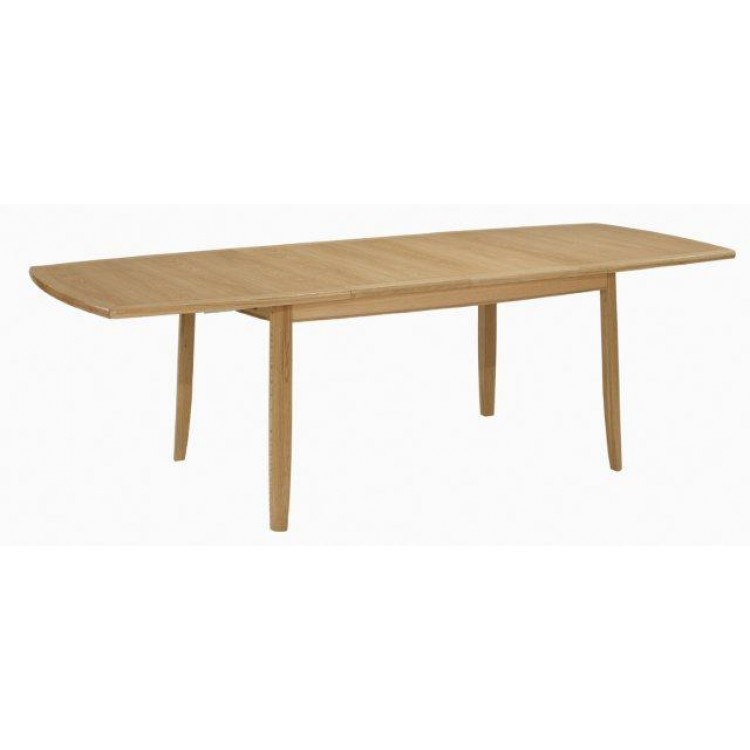 Nathan Oak 2805 Extending Boat Shaped Dining Table On Legs