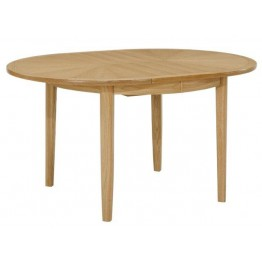 Nathan Oak 2905 Circular Dining Table on Legs with Sunburst Top