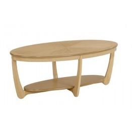 Nathan Oak 5845 Sunburst Top Oval Coffee Table NSH-5845-OK