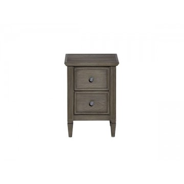 Nathan Helsinki 0100 Two Drawer Bedside Table NHI-0100-AS
