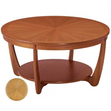 5924 Nathan Shades Sunburst Top Round Coffee Table NSH-5924-TK