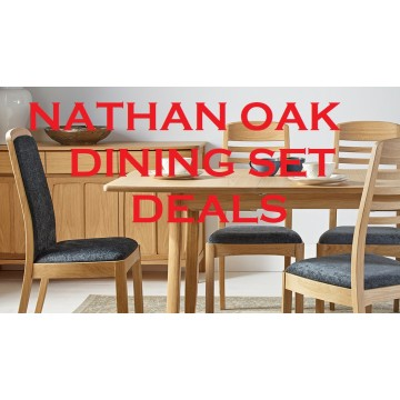Nathan Oak Dining Set Deal - Configure your perfect dining suite! Getting one chair or two chairs for free!!