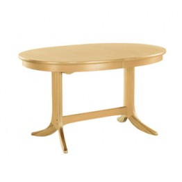 2115 Nathan Classic Oval Pedestal Dining Table in Oak Finish