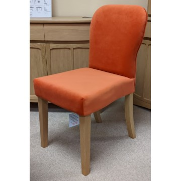 3964 Nathan Upholstered Dining Chair in Teak