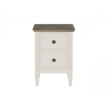 Nathan Oslo 0100 Two Drawer Bedside Table NOB-0100-PT