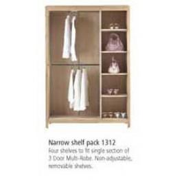 Corndell Nimbus 1312 optional shelf kit for the 1303 triple wardrobe