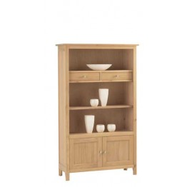 Corndell Nimbus 1258 Medium Bookcase with Cupboard and Drawers.
