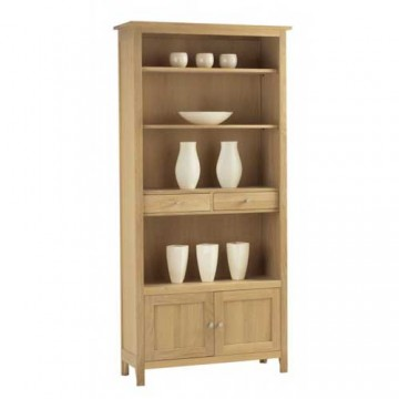 Corndell Nimbus 1269 Large Bookcase with Cupboard and Drawers