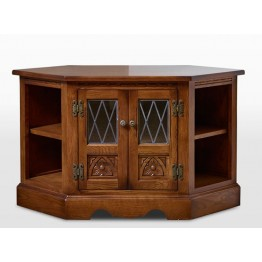 2441 Wood Bros Old Charm Corner Video Cabinet