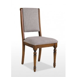 3190 Wood Bros Old Charm Dining Chair - Leather Seat & Back