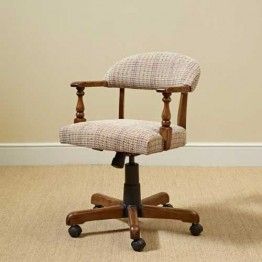 3032 Wood Bros Old Charm Captains Office Chair in Fabric