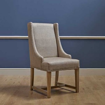 3063 Wood Bros Old Charm Lichfield Dining Chair in Fabric
