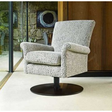 Parker Knoll Bradley Swivel Chair with Wooden Base