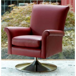 Parker Knoll Bradley Swivel Tilt Chair with Chrome Base