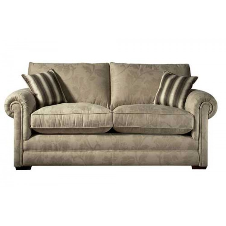 Parker Knoll Canterbury Settee In Leather And Fabric