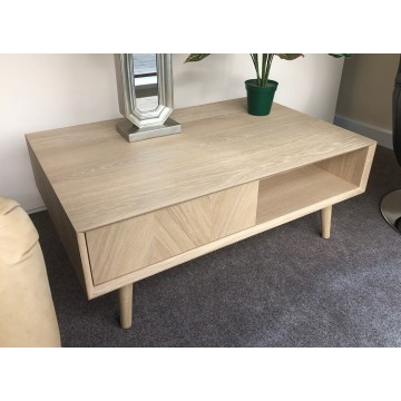 Forino Oak Coffee Table  with Drawers