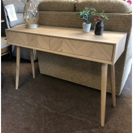 Forino Oak Two Drawer Console Table