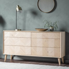 Forino Oak Sideboard with 6 Drawers