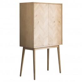 Forino Oak Cocktail Cabinet