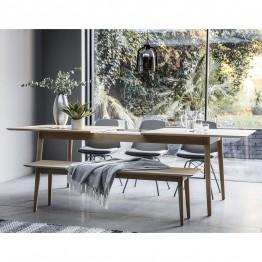 Forino Oak Oblong Extending Dining Table