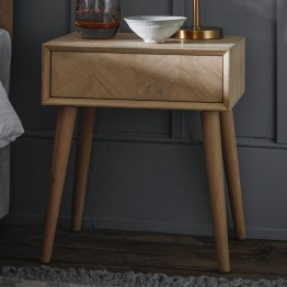 Forino Oak One Drawer Side Table