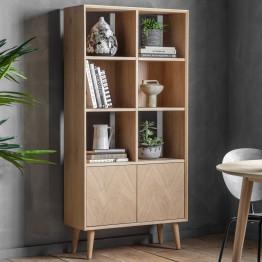 Forino Oak Open Display & Bookcase Unit