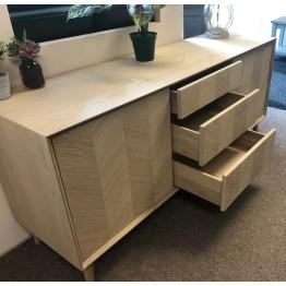 Forino Oak Sideboard with Drawers & Cupboard